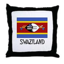 Swaziland Flag Throw Pillow