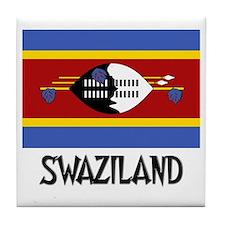 Swaziland Flag Tile Coaster