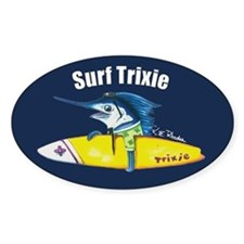 Surf Trixie Navy Oval Decal