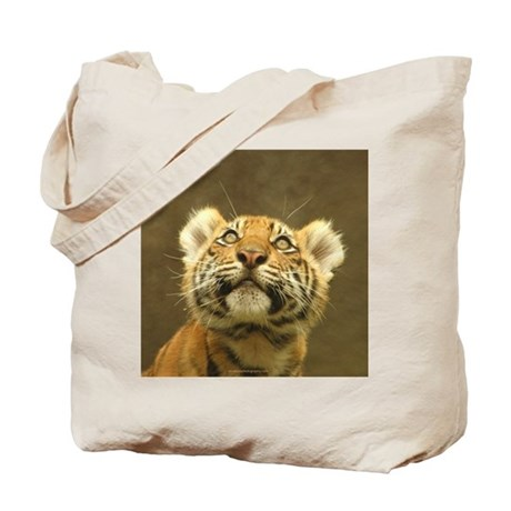 Little Tiger, Big World Tote Bag