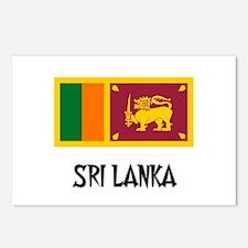 Sri Lanka Flag Postcards (Package of 8)