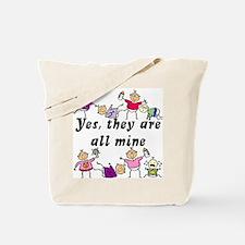 All Mine (8 Kids) Tote Bag