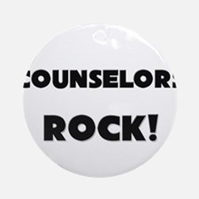 Counselors ROCK Ornament (Round)
