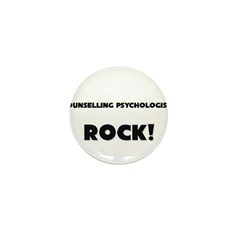 Counselling Psychologists ROCK Mini Button (10 pac