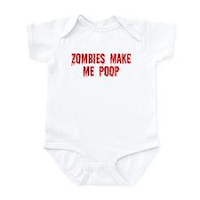 Zombies make me poop Onesie