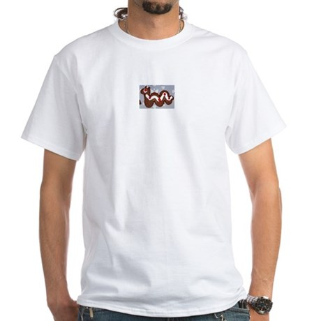 Gingerbread Nessie White T-Shirt