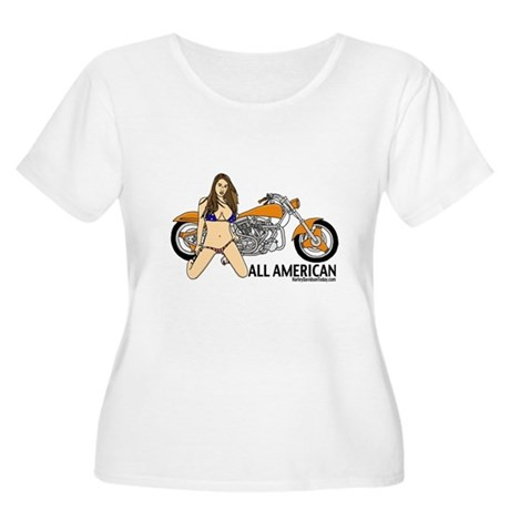 All American Harley Women's Plus Size Scoop Neck T