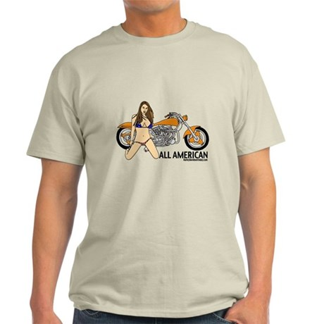 All American Harley Light T-Shirt