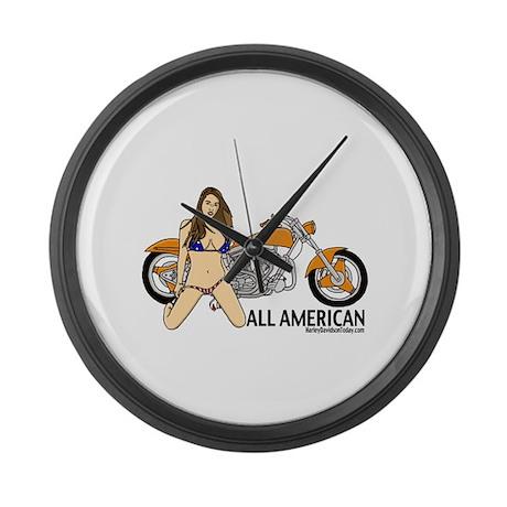 All American Harley Large Wall Clock