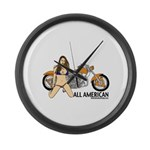 All American Harley Large Wall Clock