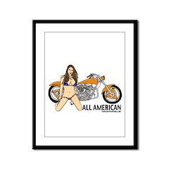 All American Harley Framed Panel Print