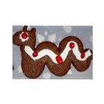 Gingerbread Nessie Rectangle Magnet