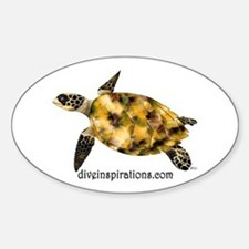 Sea Turtle Oval Stickers