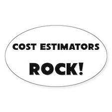 Cost Estimators ROCK Oval Sticker