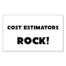 Cost Estimators ROCK Rectangle Sticker