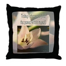 Choose Inner Peace Throw Pillow