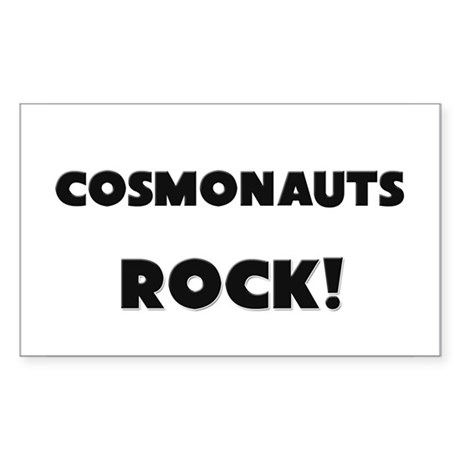 Cosmonauts ROCK Rectangle Sticker