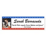 Sarah Palin Barracuda Rush Quote Sticker (Bumper)