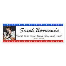 Sarah Palin Barracuda Rush Quote Bumper Bumper Sticker