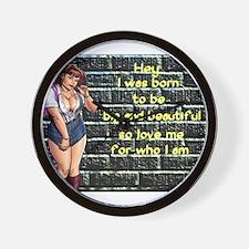Born to be BBW Wall Clock