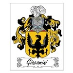 Giacomini Family Crest Small Poster