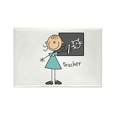 Stick Figure Teacher Rectangle Magnet