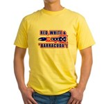 Red, White And Barracuda Yellow T-Shirt