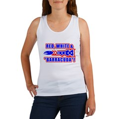 Red, White And Barracuda Women's Tank Top