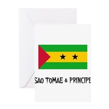 Sao Tomae & Principe Flag Greeting Card