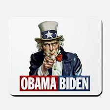 Obama-Biden Uncle Sam R/B Mousepad
