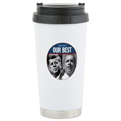 John F. Kennedy & Obama Our Best Stainless Steel T