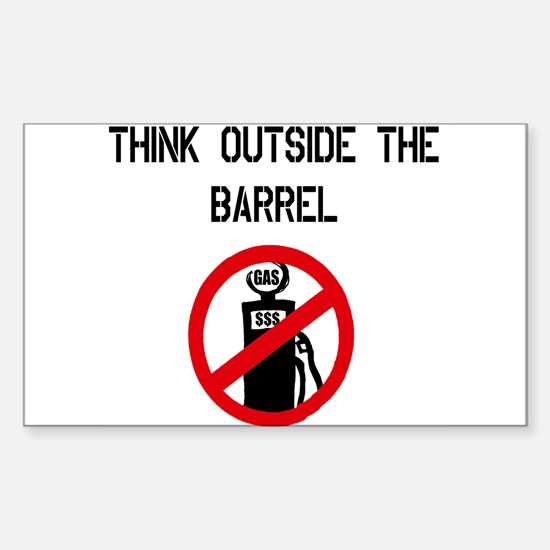Think Outside The Barrel Rectangle Decal