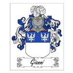 Gianni Family Crest Small Poster