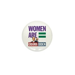 Women Are Equal Mini Button (10 pack)
