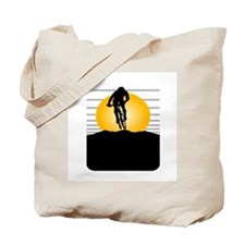 Silhouette Cyclist Tote Bag