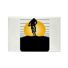 Silhouette Cyclist Rectangle Magnet
