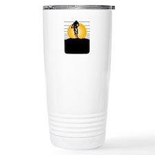 Silhouette Cyclist Travel Mug