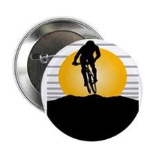 """Silhouette Cyclist 2.25"""" Button (100 pack)"""