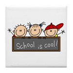 School is Cool Tile Coaster