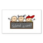 School is Cool Rectangle Sticker 10 pk)