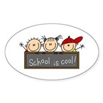 School is Cool Oval Sticker (10 pk)