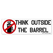 Think Outside the Barrel Bumper Car Sticker