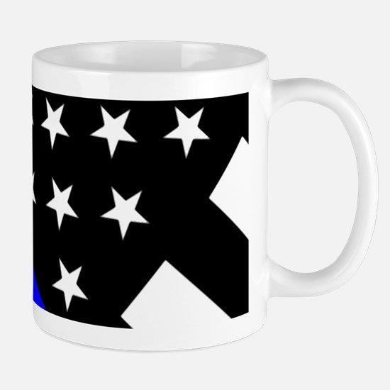 Police Flag: Thin Blue Line Mug