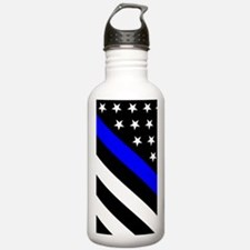 Police Flag: Thin Blue Water Bottle