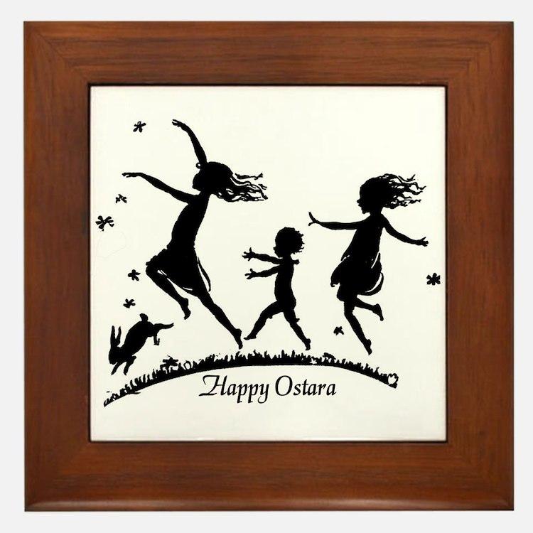 Happy Ostara - Framed Tile
