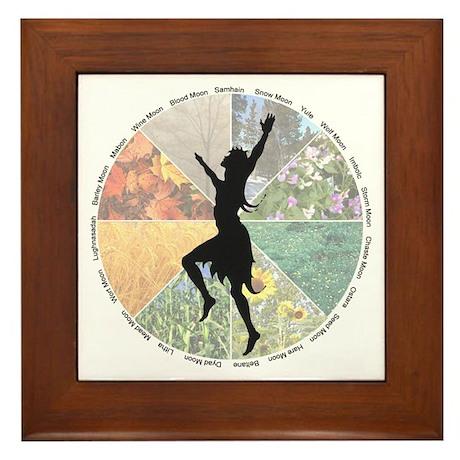 Dance the Wheel of the Year - Framed Tile