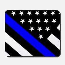Police Flag: Thin Blue Line Mousepad