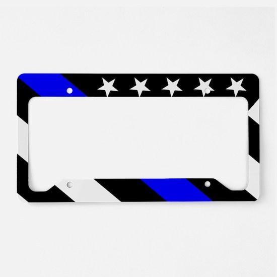 Police Flag: Thin Blue Line License Plate Holder