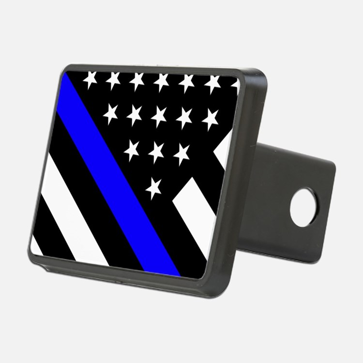 Police Flag: Thin Blue Lin Hitch Cover