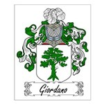 Giordano Family Crest Small Poster
